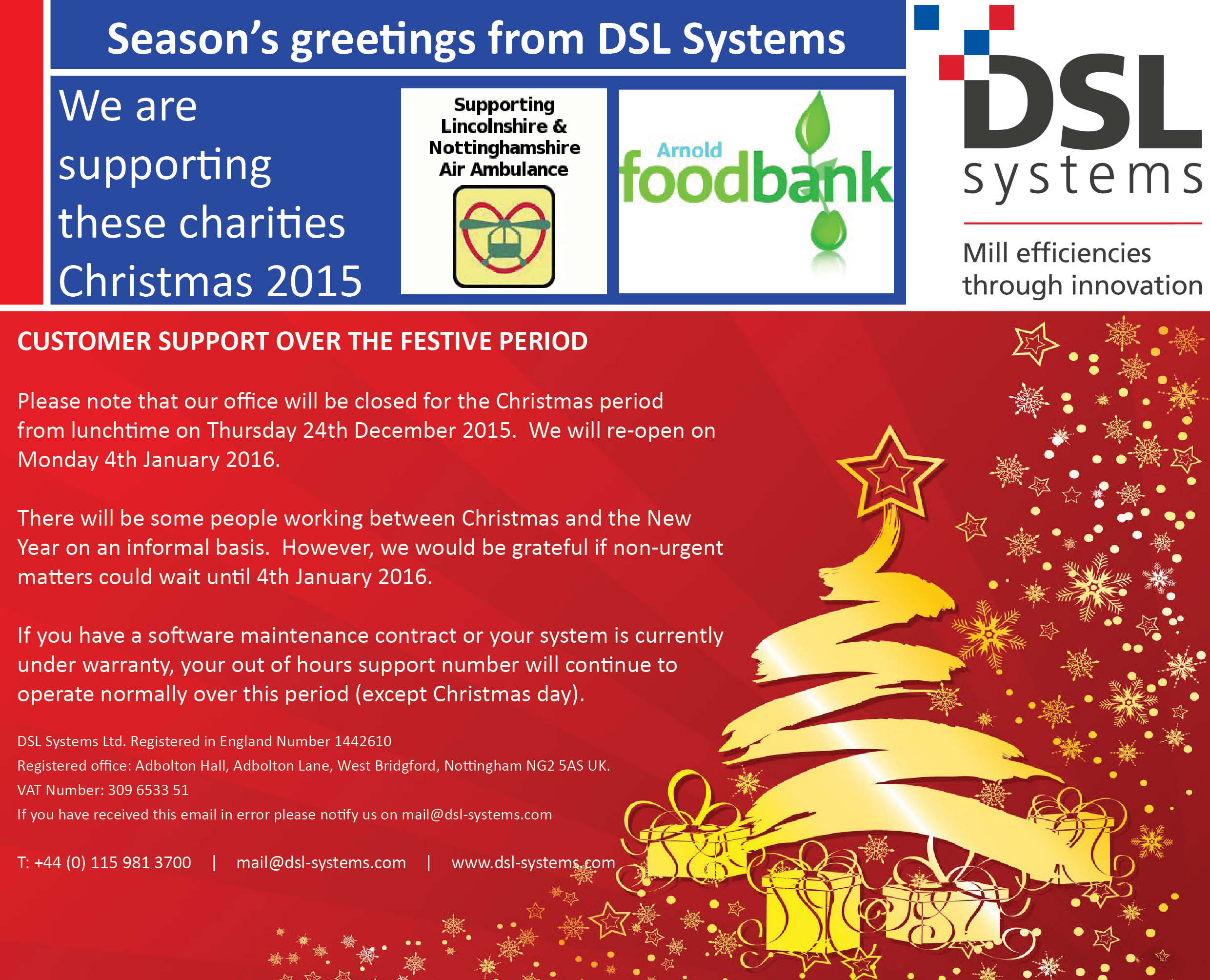 Seasons Greetings From Dsl Systems Dsl Systems